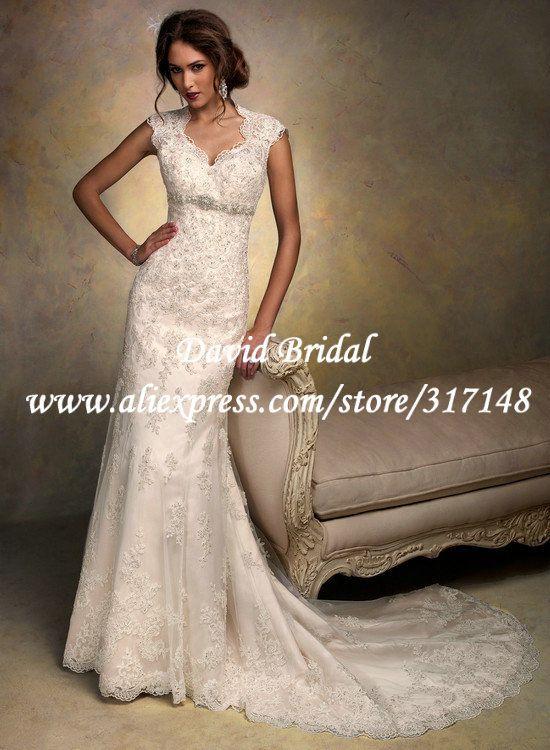 EF1604 Vintage Beaded 2013 Designer Sheath Spanish Lace Bridal Wedding  Dress Keyhole Back-in Wedding Dresses from Apparel   Accessories on A.. 84d52db71fbb