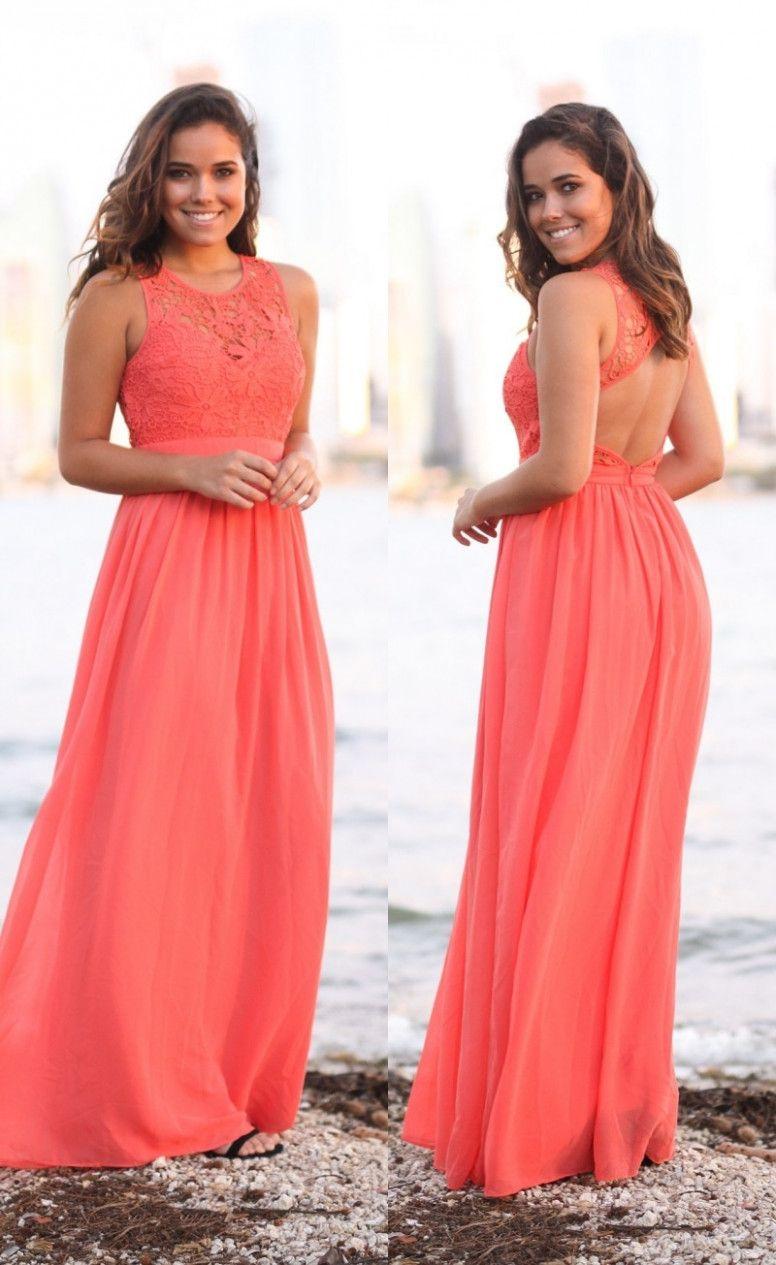 17 Kleid Hochzeit Koralle in 17  Kleid hochzeit