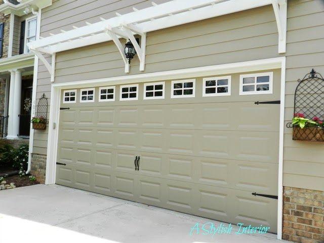 White Trim Around Windows Garage Door Makeover Door Makeover Carriage Style Garage Doors