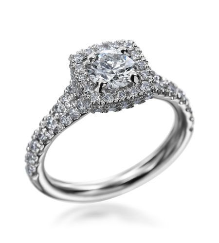 Hearts On Fire - Acclaim Collection Platinum 1.55ctw Diamond Engagement Ring