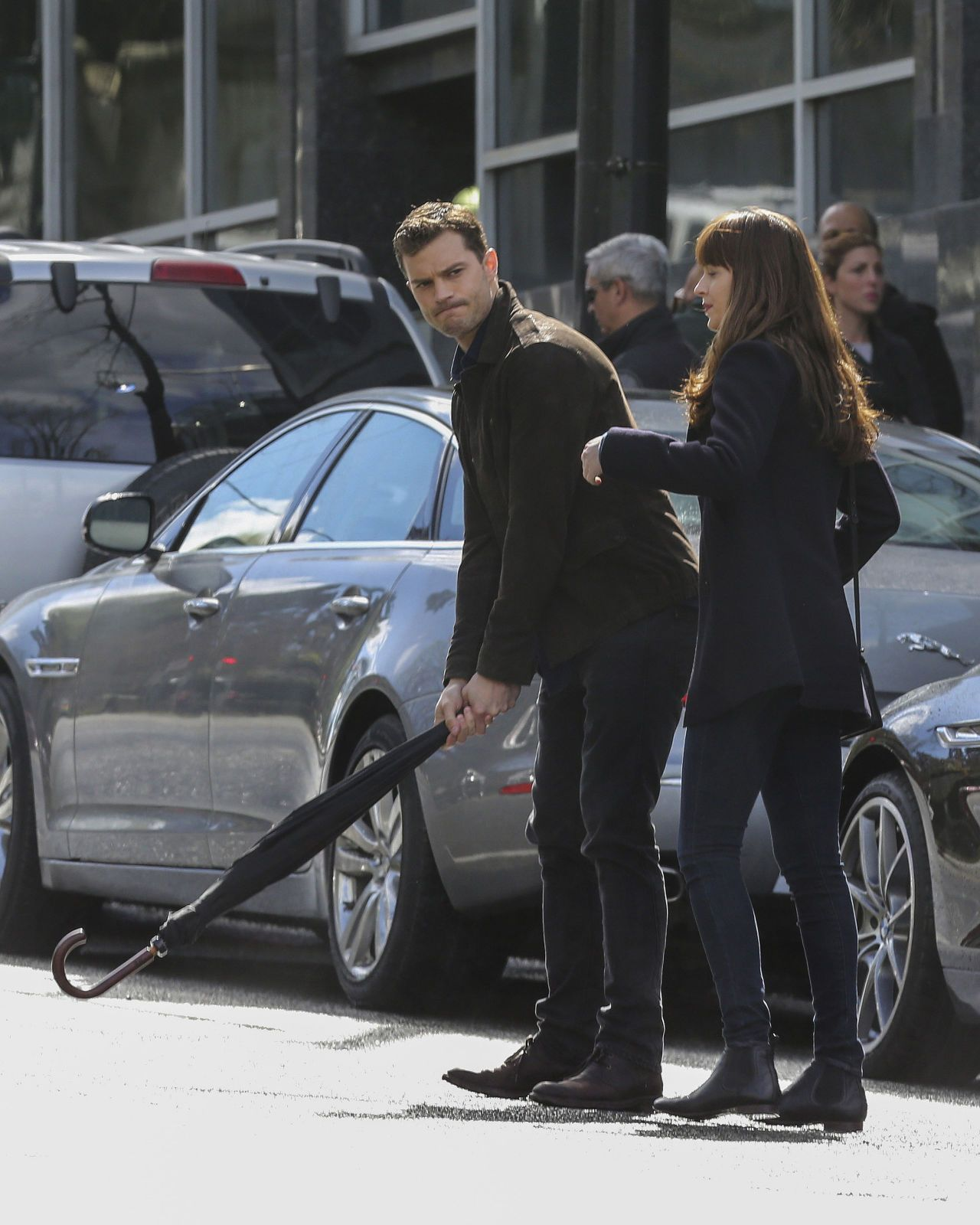 Jamie Dornan Is Swinging On The 50 Shades Darker Set Fifty