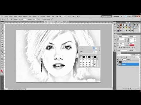 Photoshop - Tutoriel n°12  Transformer une photo en dessin - www - Logiciel De Dessin De Maison Gratuit