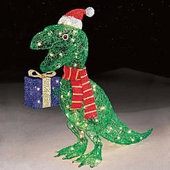 Trim A HomeR 32 105ct Icy Dinosaur Holding Presents