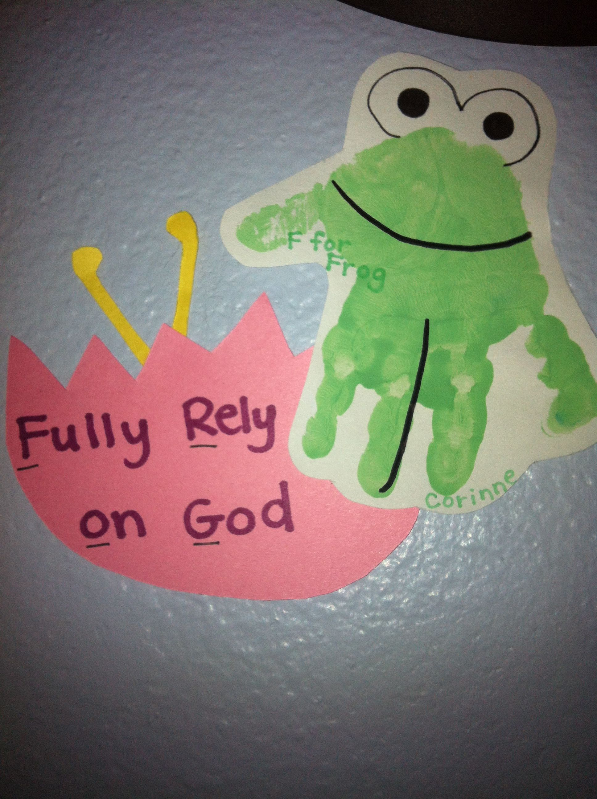 F For Frog Handprint Fully Rely On God