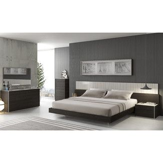 J&M Furniture Porto Platform Customizable Bedroom Set