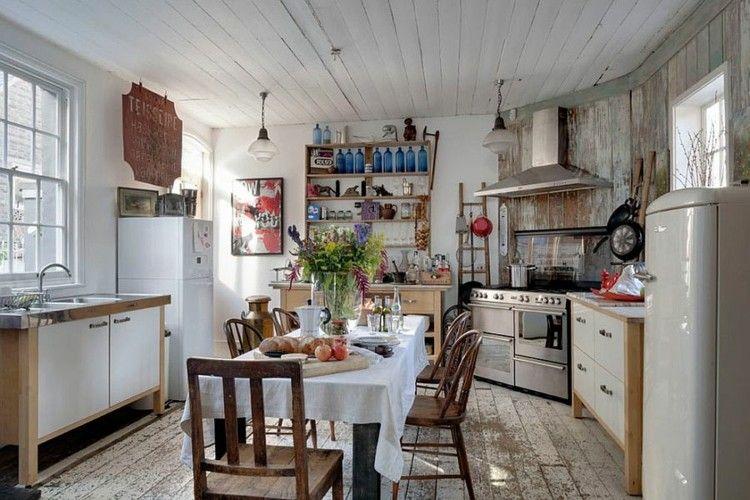 Shabby Chic Cocinas Elegantes Para Personalizar Tu Hogar - Cocina-shabby-chic