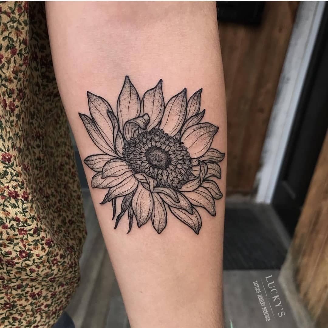Photo of 225 Stand Out Sunflower Tattoos (with Meanings & Tips) Sunflower tattoo