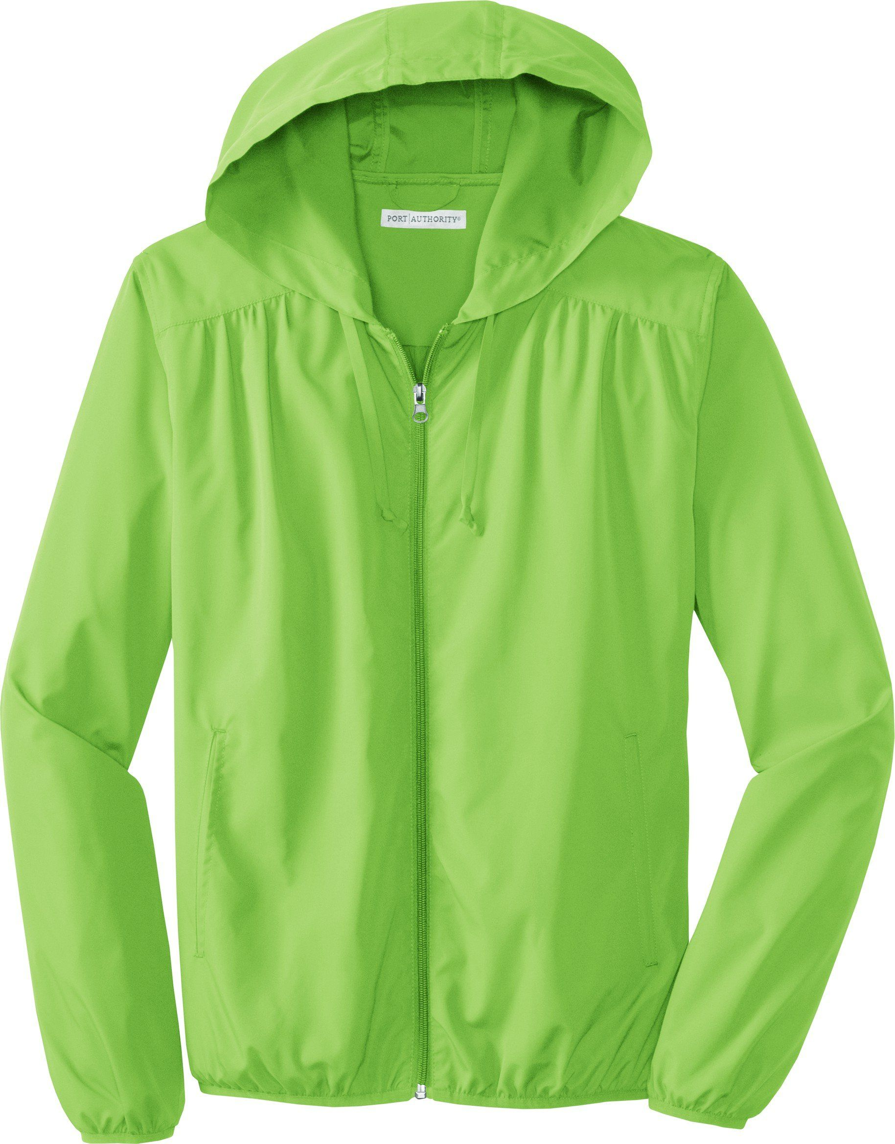 b4f969be68 Port Authority - Ladies Hooded Essential Lightweight Windbreaker Jacket.  L305 at Amazon Women s Clothing store  Athletic Warm Up And Track Jackets