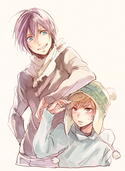 Noragami ~~ Yukine pretends that he hates being leaned on... :: Yato and Yukine