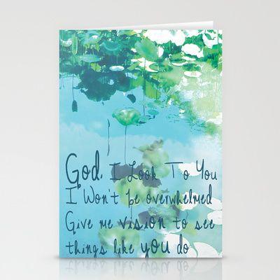 God I Look To You Stationery Cards - $12.00 jenn johnson, jenn johnson lyrics, stationery card
