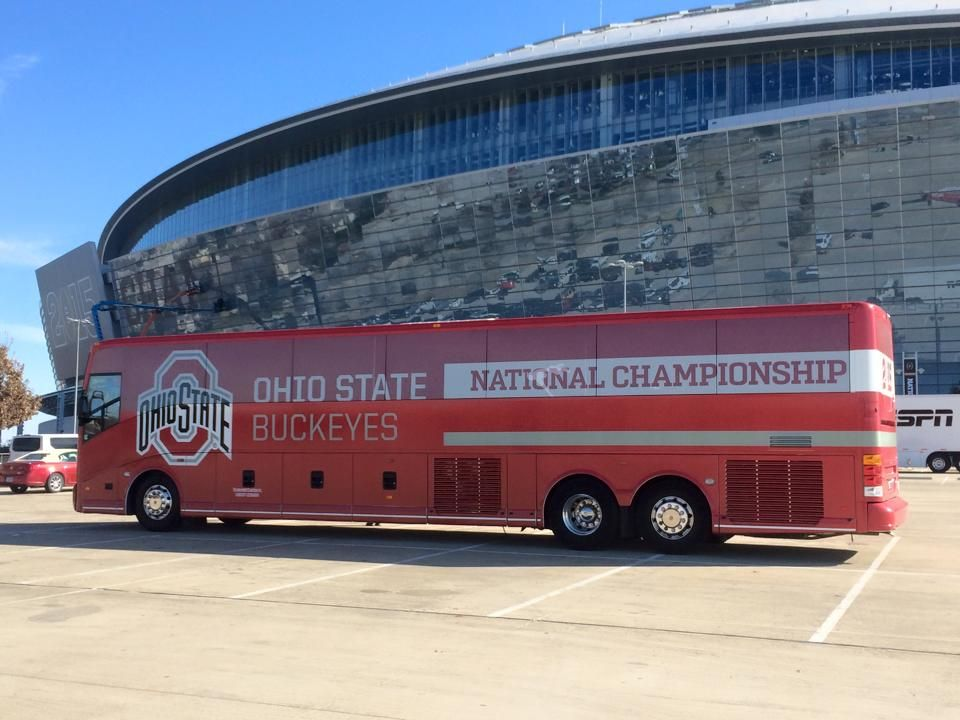Ohio State is there!!!!! So excited for the game tonight ...