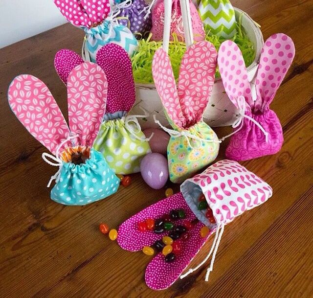 Pin by on pinterest easter easter pasen bunny eared easter drawstring fabric gift bags i can hardly wait for easter it gives me plenty of time to make a few of these negle Images