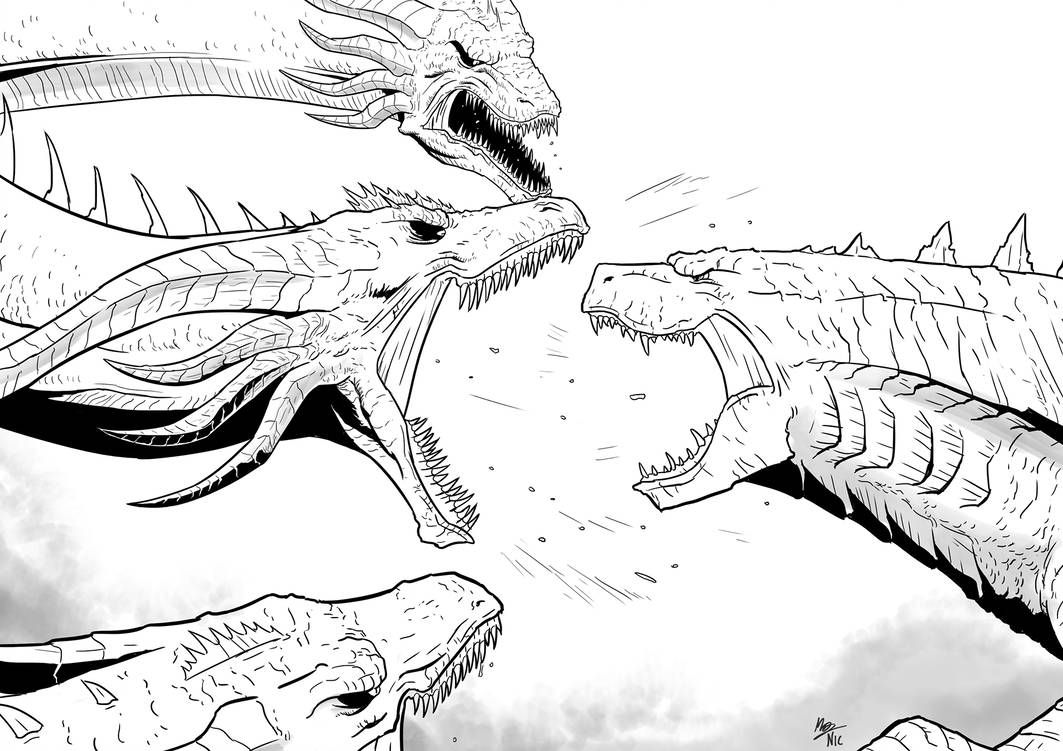 King Of The Monsters Godzilla Vs Ghidorah By A3dnazrigar