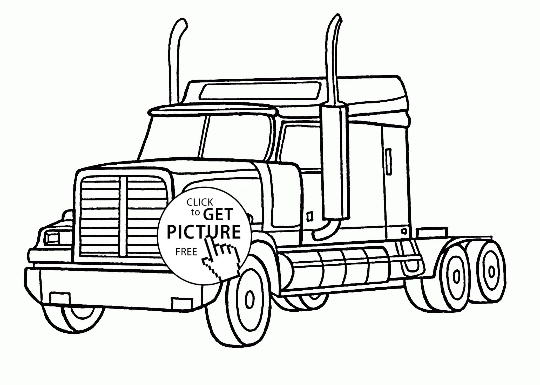 Semi Truck Coloring Pages Printable Semi Truck Coloring Pages Free