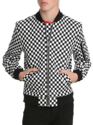 Royal Bones Checkered Bomber Jacket from Hot Topic | Menswear ...