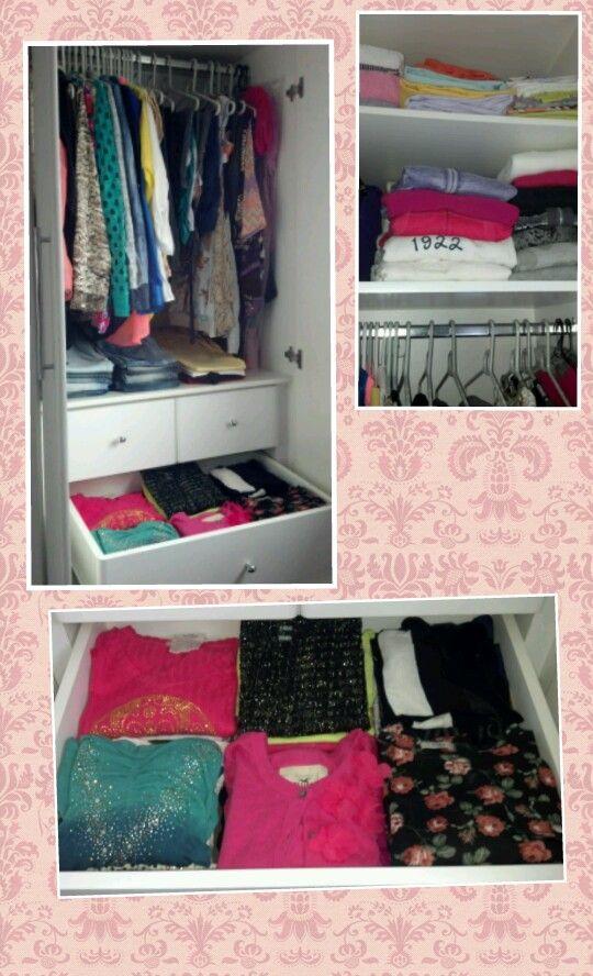 Organização de closet.