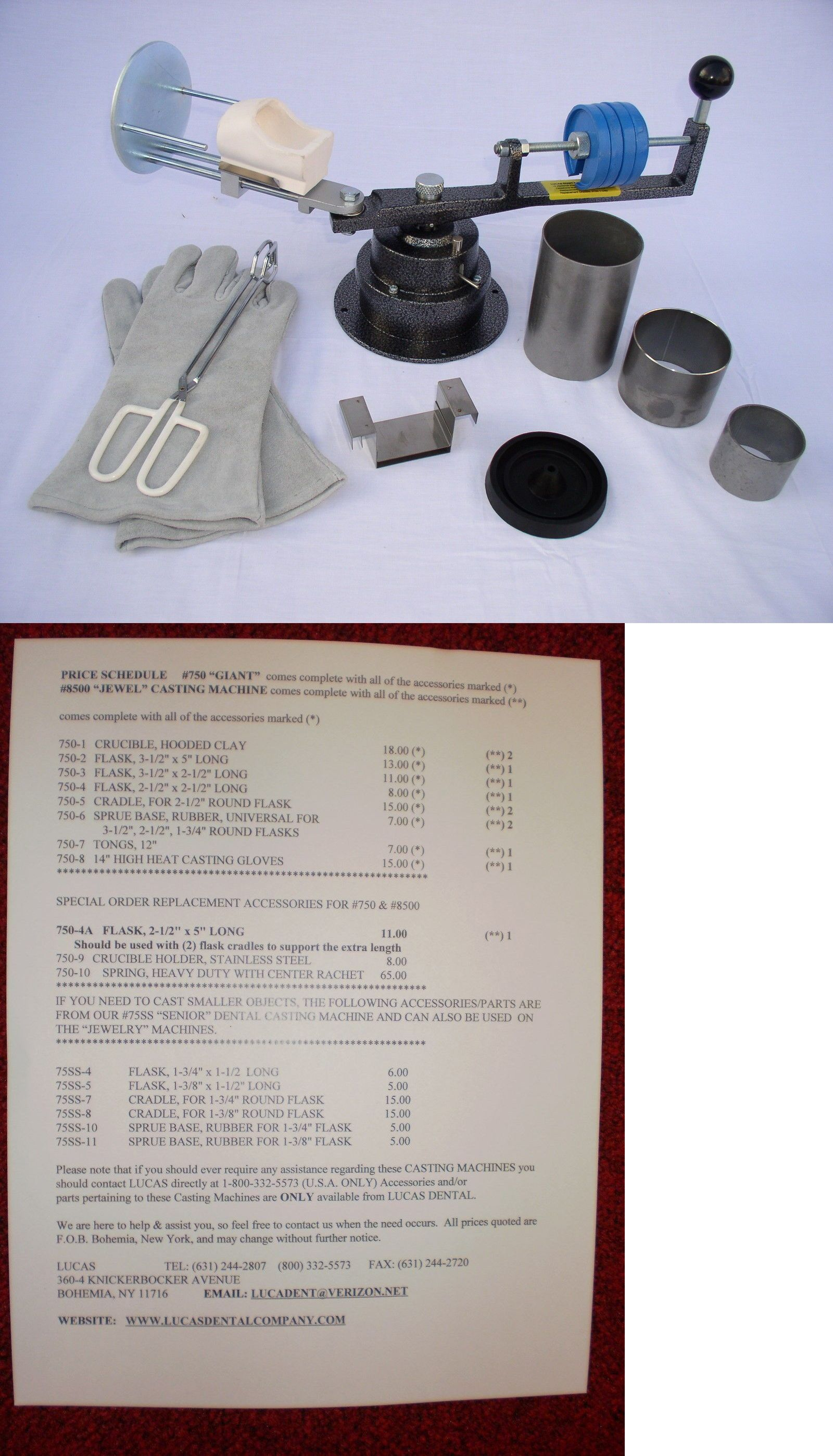 Lucas Long Arm Centrifugal Casting Machine Kit
