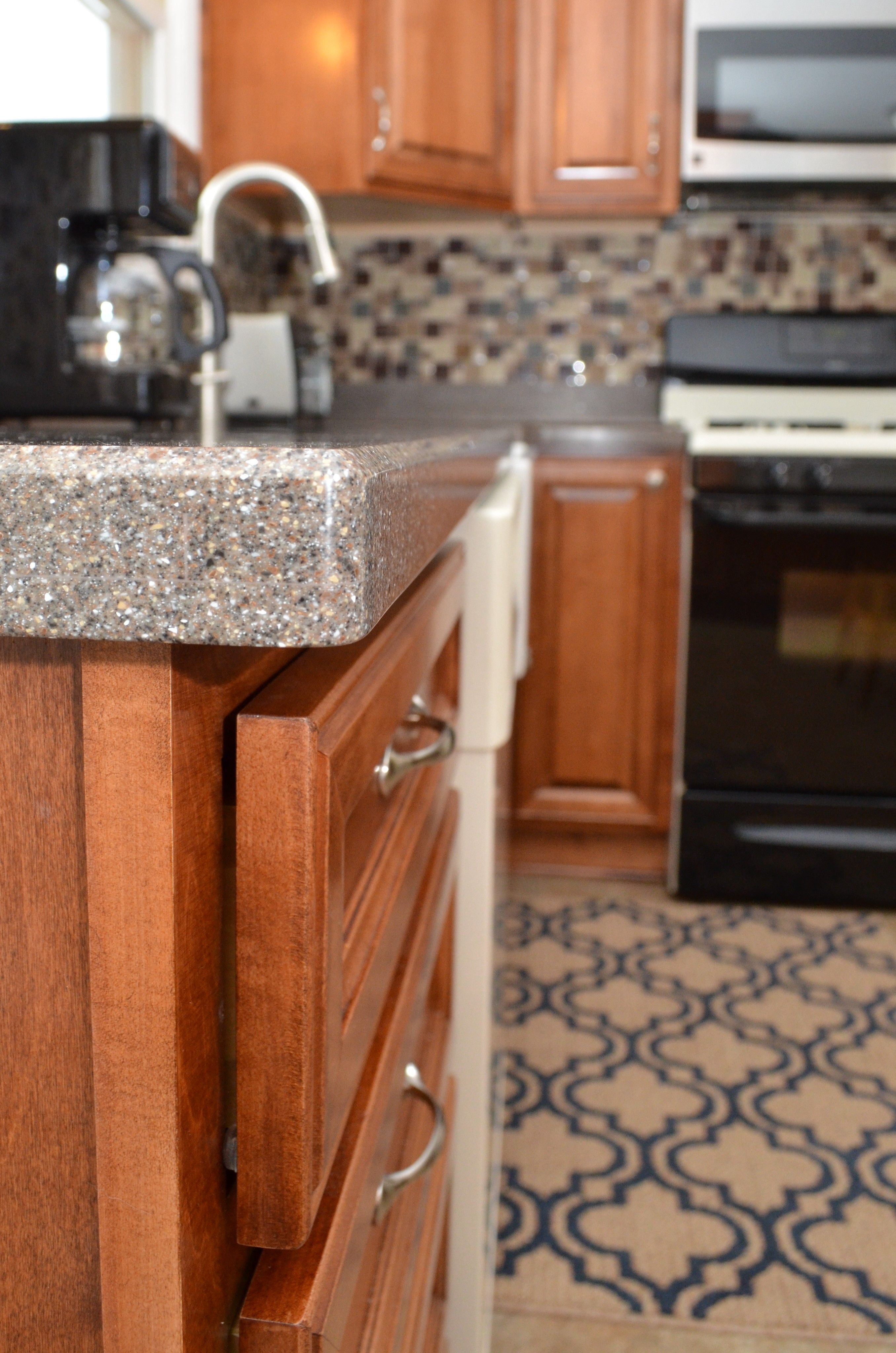Corian Solid Surface Countertop Bevel Edge Detail Coved