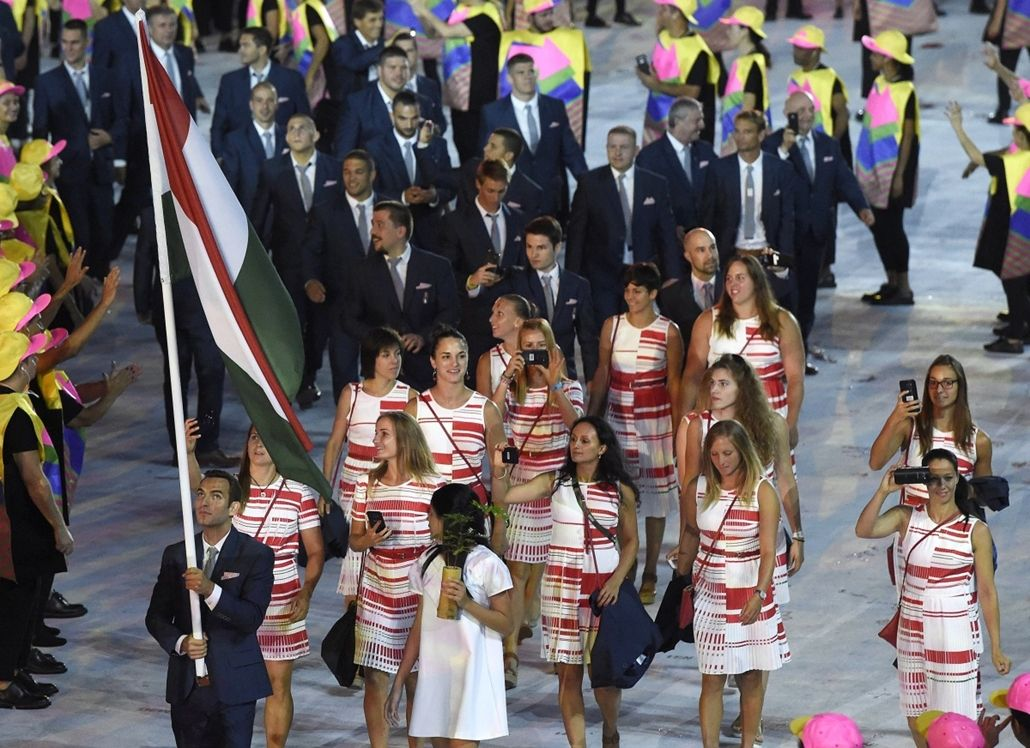 Team Hungary, opening ceremony of the Olympic Games, Rio