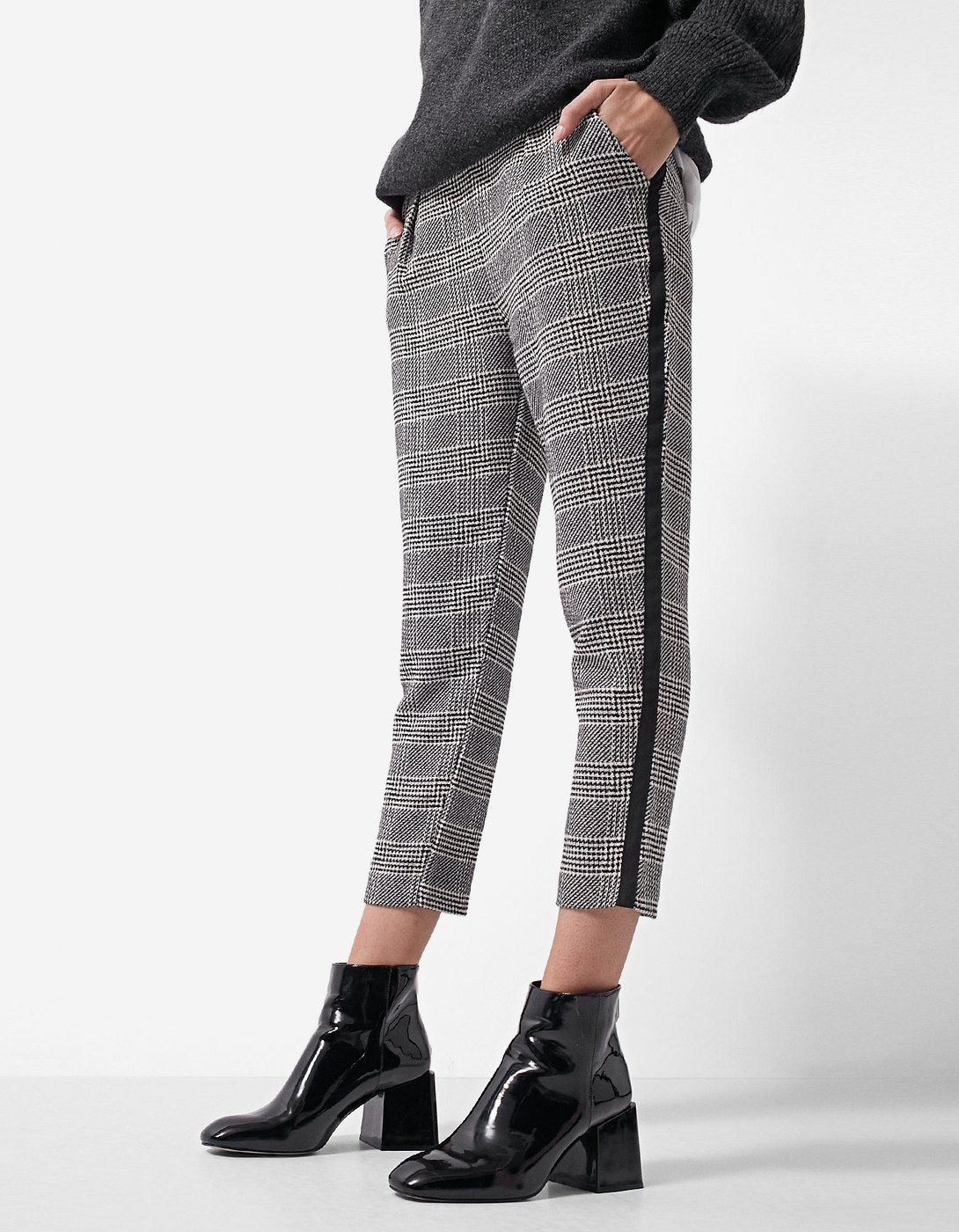62fa04bbd6d Jacquard trousers with side stripe - Dresses