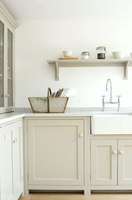 Image result for beige shaker cabinets   Side return kitchen   Pinterest