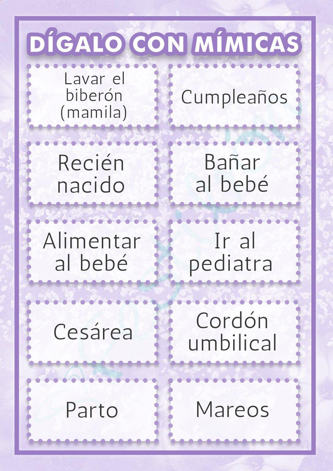 Resultado De Imagen Para Juegos Para Baby Shower Mixto Juegos Baby