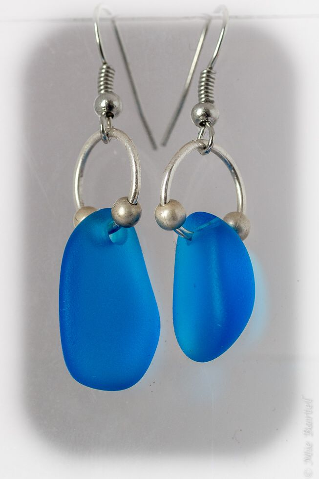 Sea glass earrings; http://de.dawanda.com/shop/Miaba | Handmade by ...