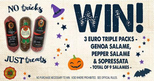 Win 3 Triple Packs of Salami {US} (10/20/2016) via... sweepstakes IFTTT reddit giveaways freebies contests