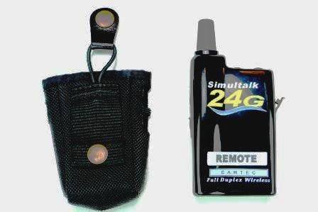 Nylon Holster Pouch Next To The Eartec Simultalk 24g Radio