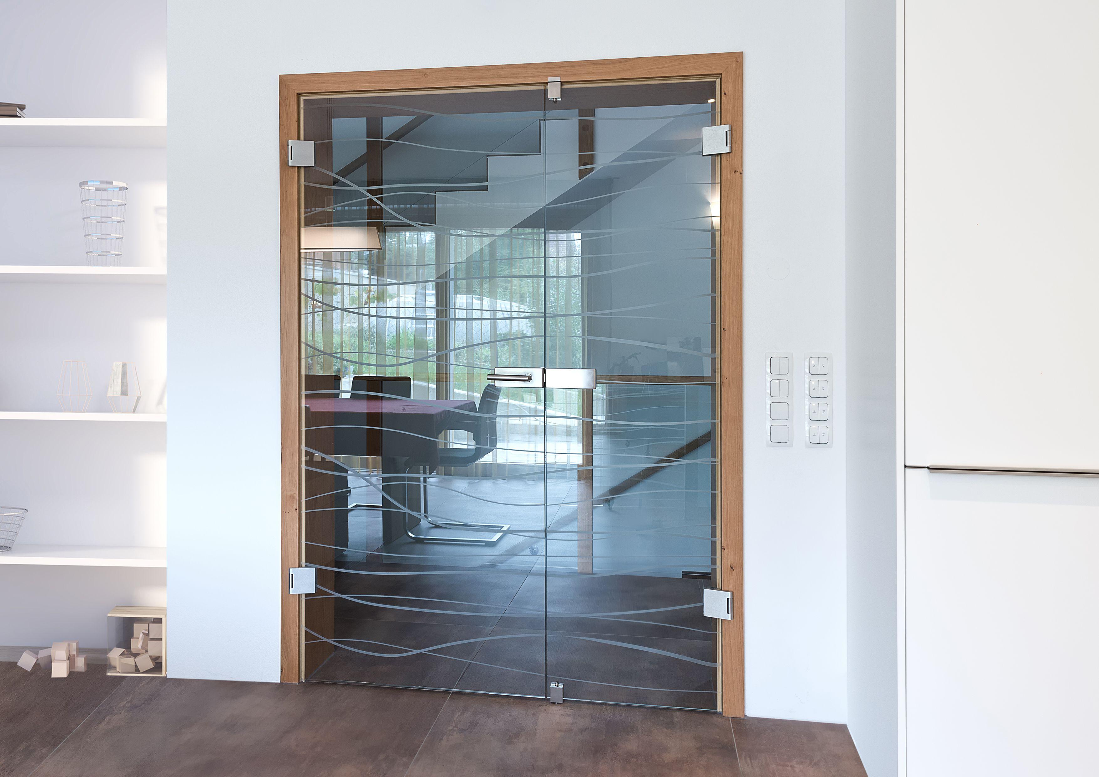 Doppel-Ganzglastüre von W.T.G.  Glastür wohnzimmer, Innentüren