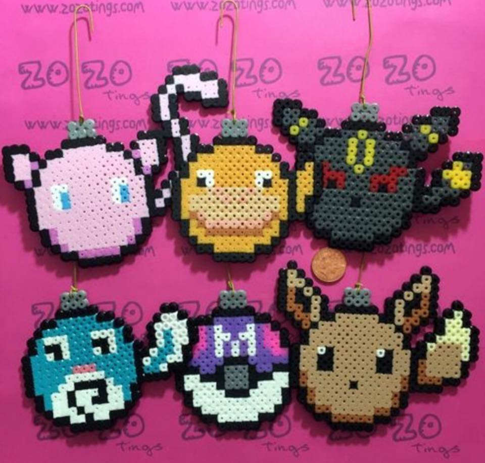 Pokemon Ornaments 2 Pokemon Perler Beads Pokemon Bead Pokemon Ornaments
