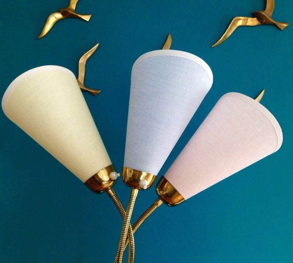 ❤️pastellfarbene Lampenschirme für 50er Jahre tütenlampe 50s 50zi, 10€