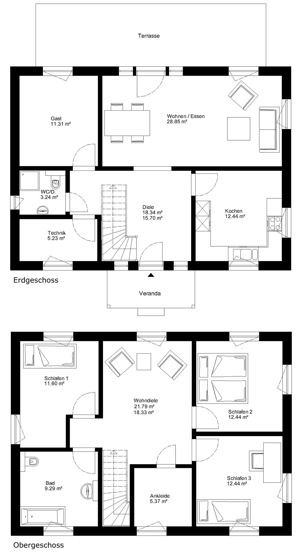 max haus 2 geschossig vermont floorplan pinterest haus schwedenhaus und grundriss. Black Bedroom Furniture Sets. Home Design Ideas