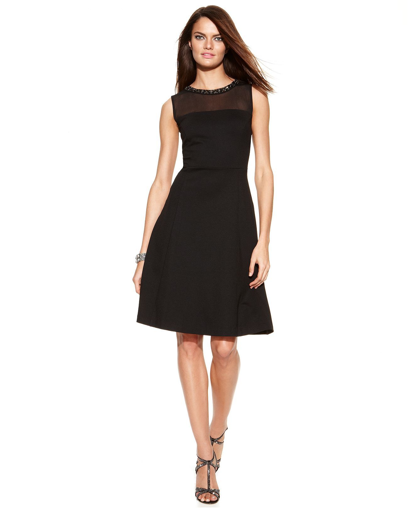 2ac27868d0e INC International Concepts Embellished Sleeveless A-Line Dress - Dresses -  Women - Macy s