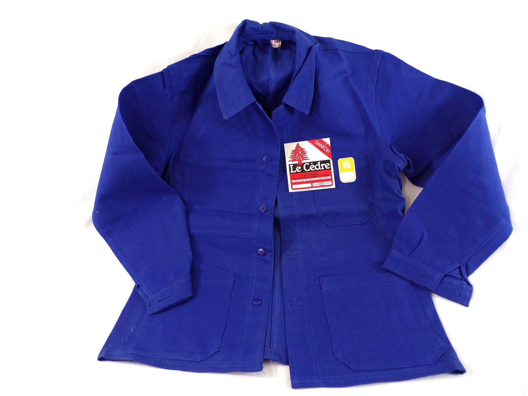 Veste vintage bleu de travail marque le Cèdre made in
