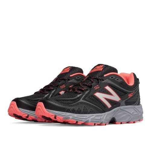 New Balance New Balance 510v3 Trail Women's Trail Running Shoes BlackOrangeSilver (WT510LI3) from New Balance Athletic Shoe | ShapeShop