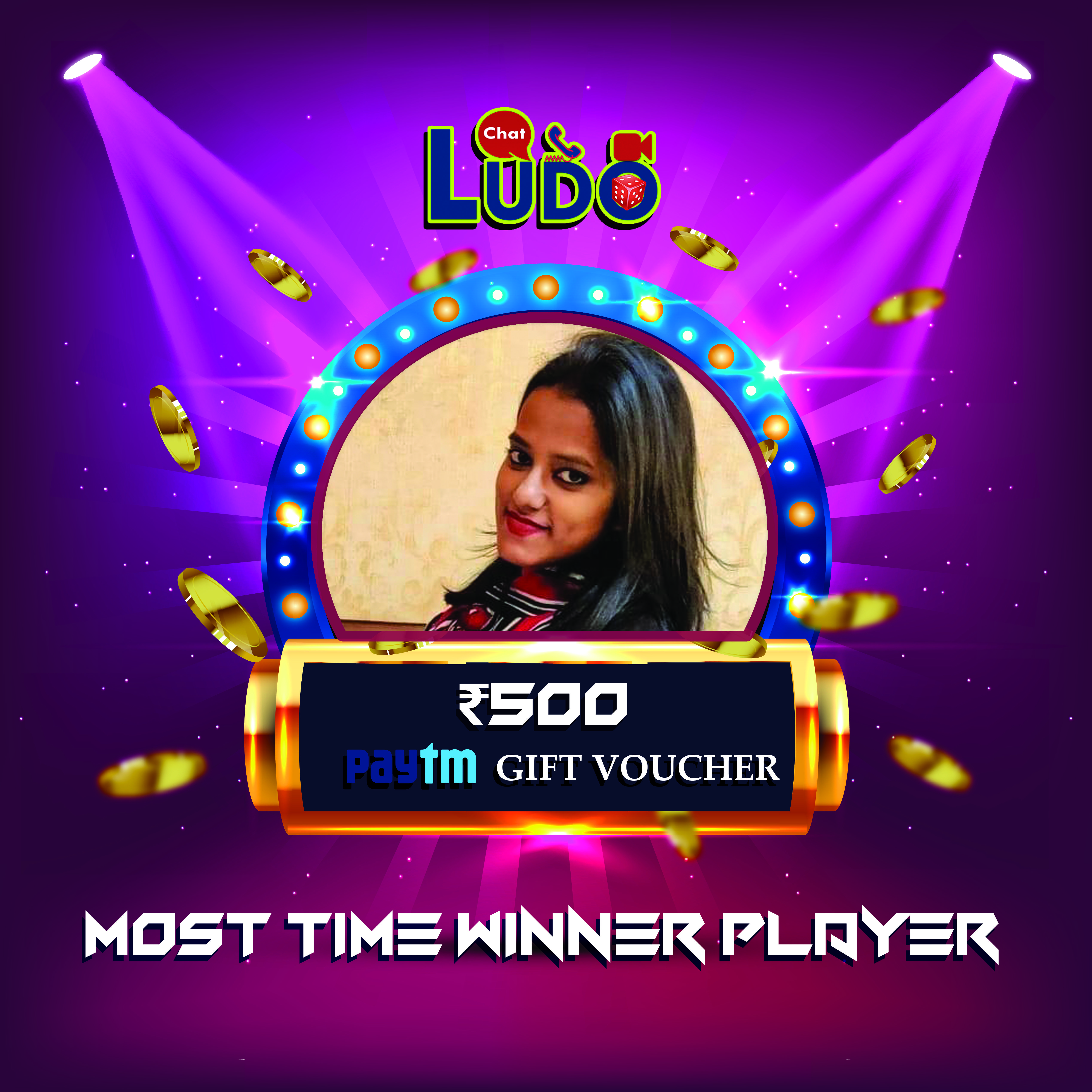 Congratulations 👏👏👏 Kittu Arora Most Time Winner Player
