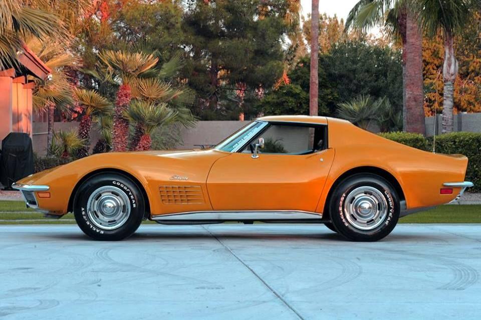 1970 Chevy Corvette Stingray In Ontario Orange Corvette Chevrolet Corvette Chevy Corvette
