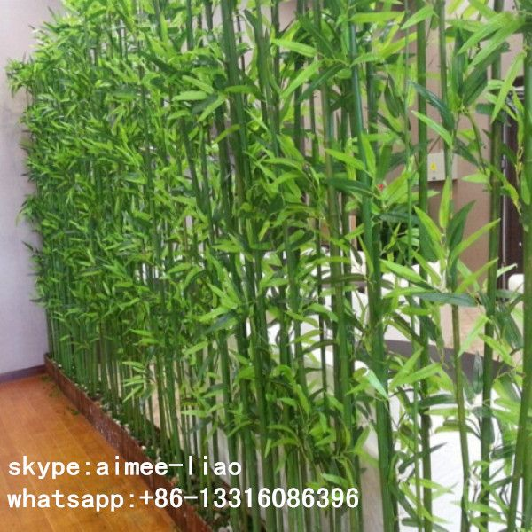Ornamental Plants Artificial Bamboo Fence Outdoor Decoration Pole For Garden