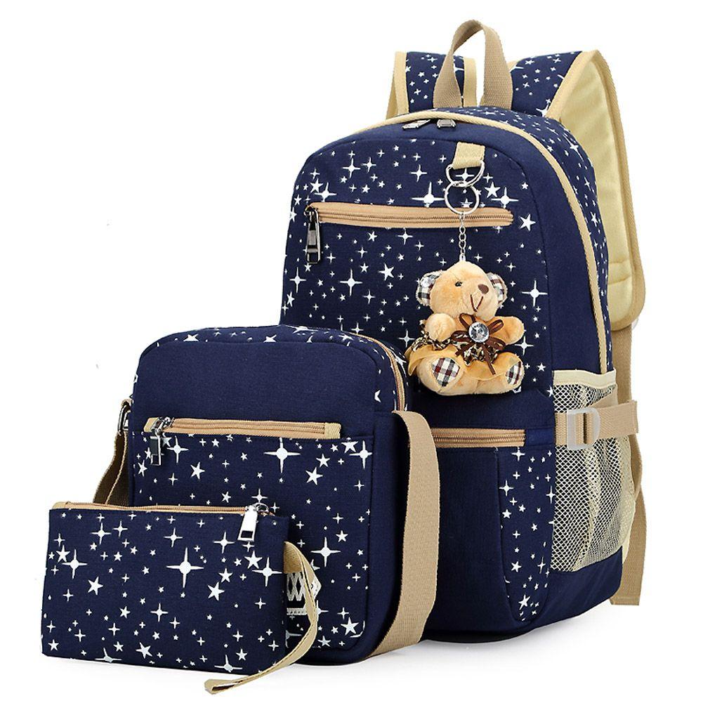 d6e6b133775 Fashion Korean Women Canvas Backpack for Teenagers Girls Cute Travel Bags  Canvas Printing Shoulder School Bags Backpacks Mochila