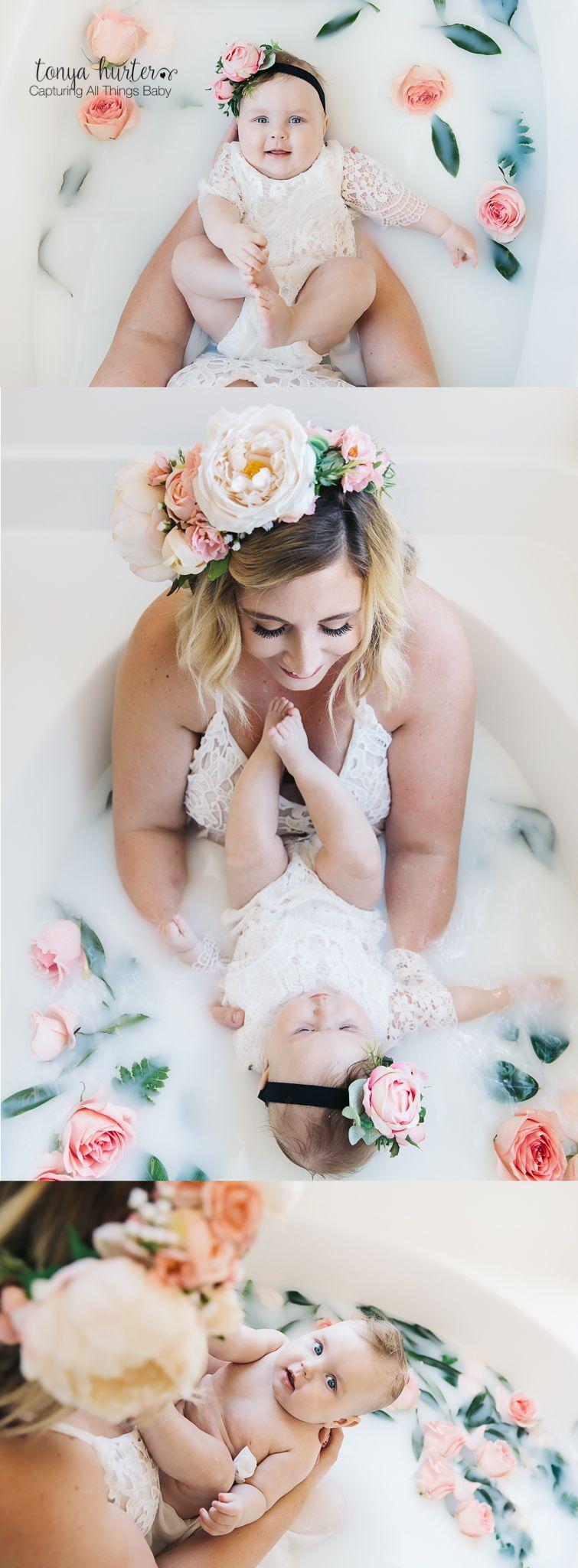 Mother and Baby Milk Bath Photo Shoot, Raleigh NC #milkbath