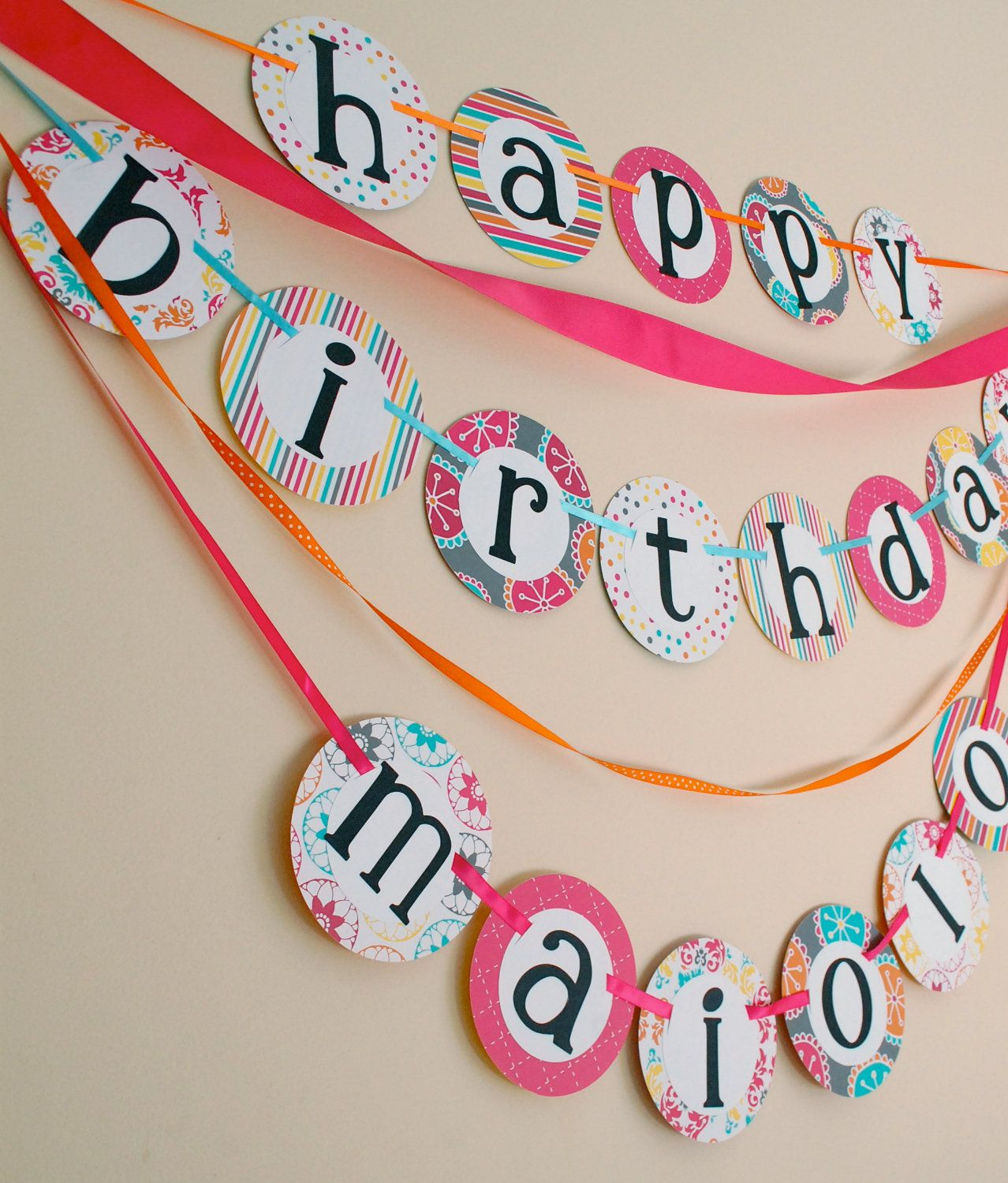 custom happy birthday banner with namehot by partychicboutique