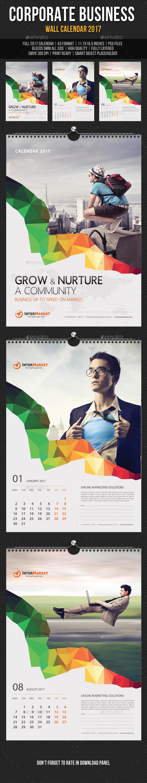 Corporate Wall Calendar Design Templates : Pin by best graphic design on calendar templates