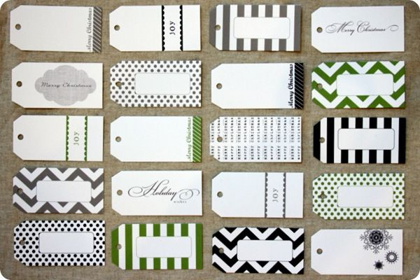 Assorted Single Fold Gift Tags