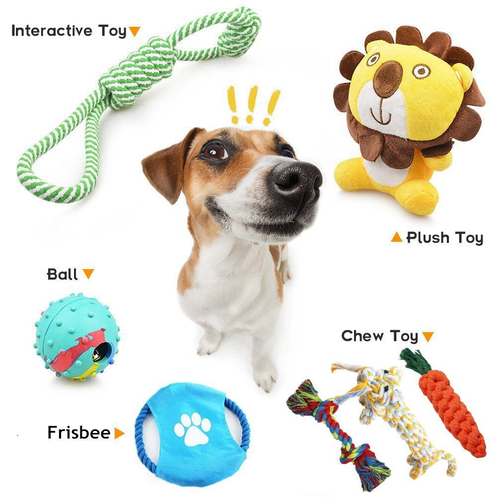 Bowada Puppy Toys Dog Toys Gift Set With Interactive Toy Frisbee
