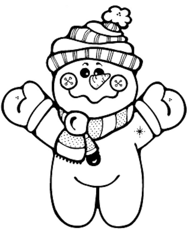 A Small And Interesting Snowman Coloring Pages | Printable ...