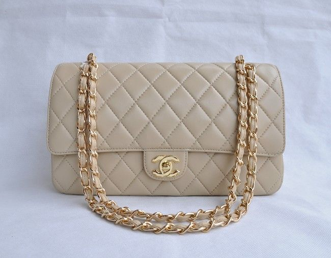 8d662f11be39 Chanel Apricot Lambskin gold Chain Flap Bag 1113 | Chanel Handbags ...