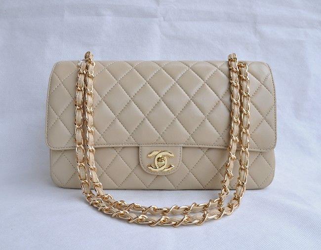 8d662f11be39 Chanel Apricot Lambskin gold Chain Flap Bag 1113   Chanel Handbags ...