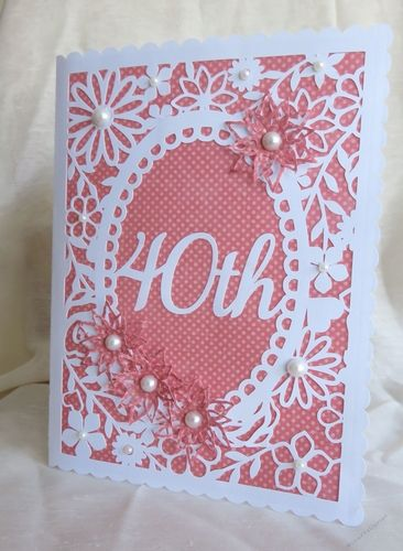 Download Pretty 40th Birthday floral card by Tina Fallon 40th ...