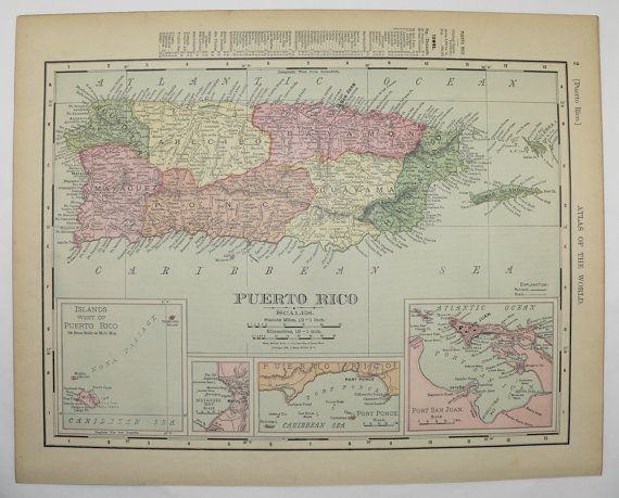 Puerto Rico Map, United States Map Territory Growth 1900 ...